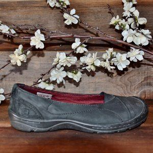 Keen Black mary jane loafer ballet slip on shoes